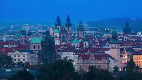 Quick Evening in Prague. Time Lapse 4K Footage