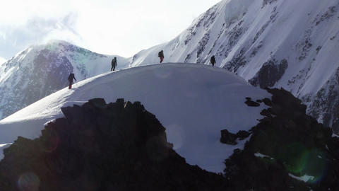 Climbers Tent In High Mountains Footage