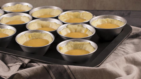 Egg tarts home production Footage