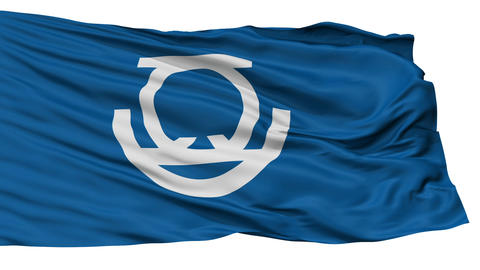 Isolated Zushi city flag, prefecture Kanagawa, Japan Animation