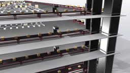 Smart factory concept 3D rendering animation Footage