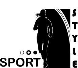Sport. style, girl Vector