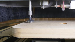 Milling machine wood CNC for industrial furniture production Footage