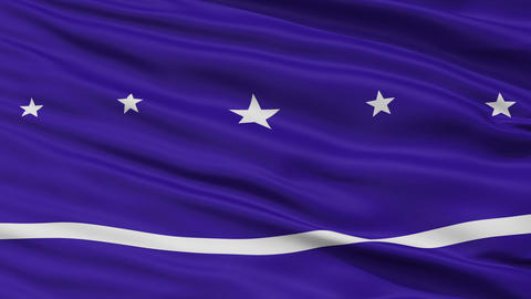 Closeup Banderario city flag, Argentina Animation