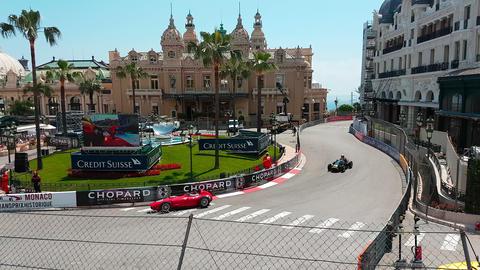 Monaco Historic Grand Prix 2018 in Front of The Monaco Casino Live Action