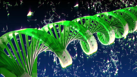 Abstract Loopable Background with rotating abstract DNA Animation