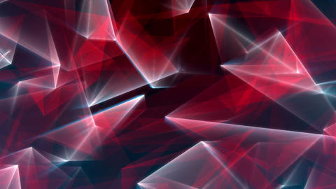 Red Blue Glowing Lines Polygonal Background Animación