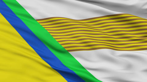 Closeup Jesus Maria city flag, Colombia Animation