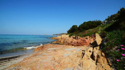Piccolo Pevero beach on a sunny day. Sardinia, Italy Footage