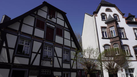 Fachwerkhaus Traditional German Half-Timbered House, Germany Live Action