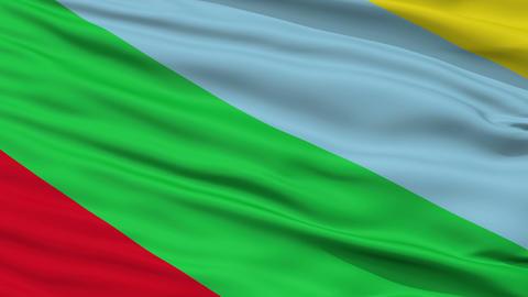 Closeup Buenos Aires city flag, Costa Rica Animation