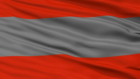 Closeup Poas city flag, Costa Rica Animation
