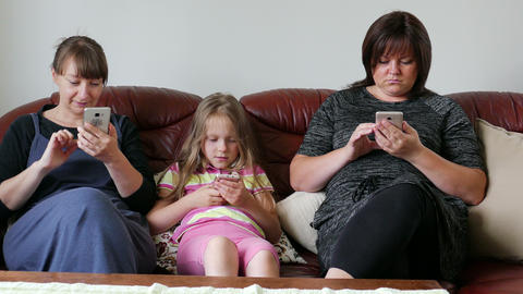 People Addicted To Gadgets, Lack Of Live Communication Relationship Online Footage