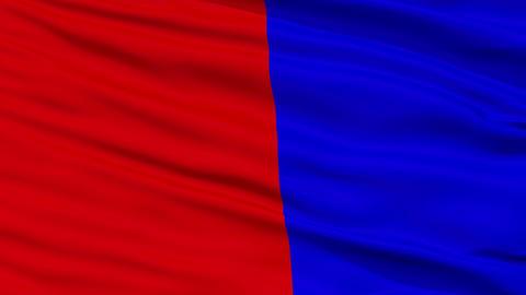 Closeup Cagnes sur Mer city flag, France Animation
