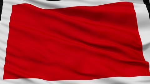 Closeup Chieti city flag, Italy Animation