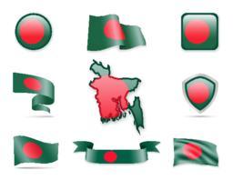 Bangladesh Flags Collection ベクター