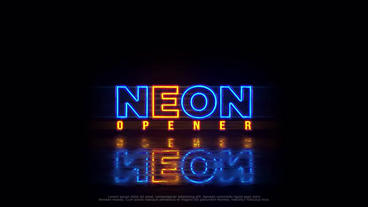 Neon Logo (+Vertical Ver.) Plantilla de After Effects