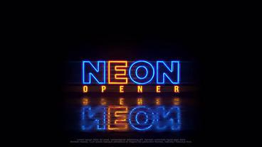 Neon Logo (+Vertical Ver.) 애프터 이펙트 템플릿