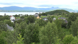 North Europe Norway Saltstraumen village with green surrounding in the fjord GIF