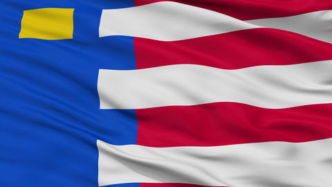 Closeup Baarle Nassau city flag, Netherlands Animation