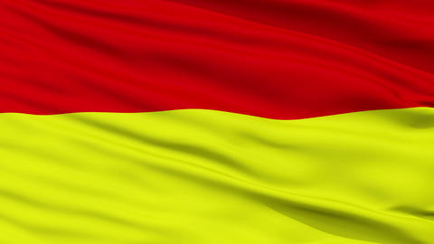 Closeup Wroclaw city flag, Poland Animation