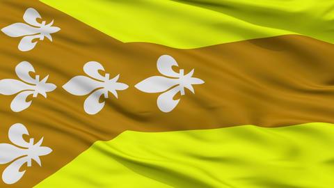 Closeup Dorado city flag, Puerto Rico Animation