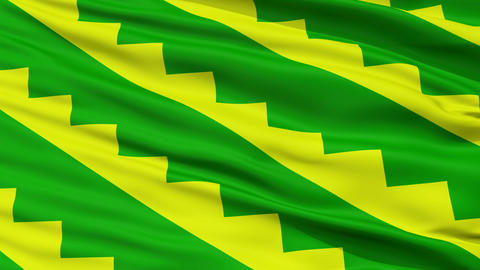 Closeup Gurabo city flag, Puerto Rico Animation