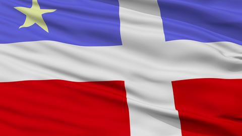 Closeup Lares city flag, Puerto Rico Animation