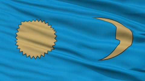 Closeup Gheorgheni city flag, Romania Animation
