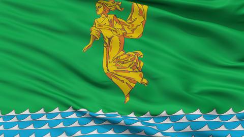 Closeup Angarsk city flag, Russia Animation