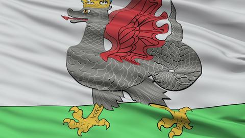 Closeup Kazan city flag, Russia Animation