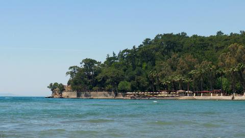 Akyaka, Turkey, beach, sunbed, Daily life Summer Travel Destination Live Action