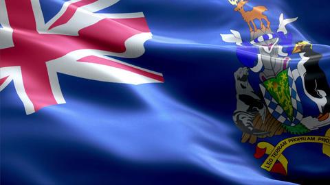 Flag South Sandwich Islands Animation