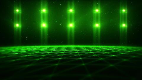 3D Green Matrix Landscape in Cyberspace VJ Loop Background Animation