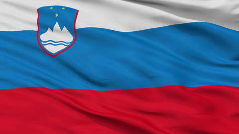 Closeup Slovenia city flag, Slovenia Animation