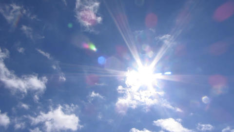 Sky sun clouds movement light beam Live Action