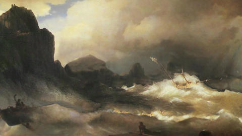3D Animated Classical Painting HD - Ivan Aivazovsky - Shipwreck 1843 Animation