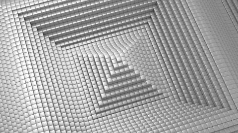 Cubes Formed A Wave Animation