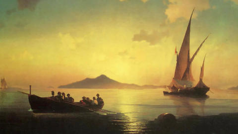 3D Animated Classical Painting HD - Ivan Aivazovsky - The Bay Of Naples 1841 Animation