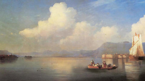 3D Animated Classical Painting HD - Ivan Aivazovsky - Italian Landscape 1858 Animation