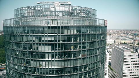 BERLIN, GERMANY - APRIL 30, 2018. Deutsche Bahn DB headquarters skyscraper at Footage