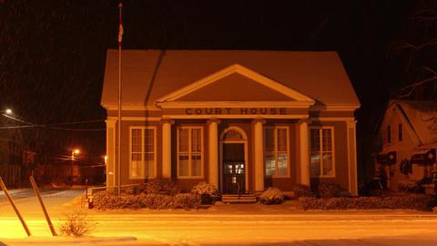 Courthouse in Village in Winter (Antigonish, Nova Scotia) Live Action
