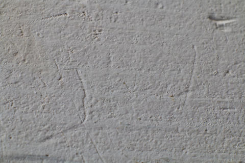 White grunge brick wall background フォト