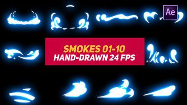 Liquid Elements 2 Smokes 01-10 애프터 이펙트 템플릿