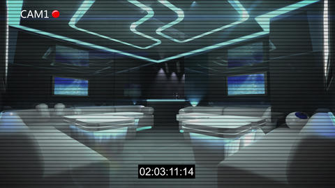 Cyber Club Room cctv recording Animation