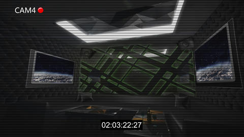 Dark style club room cctv recording Animation