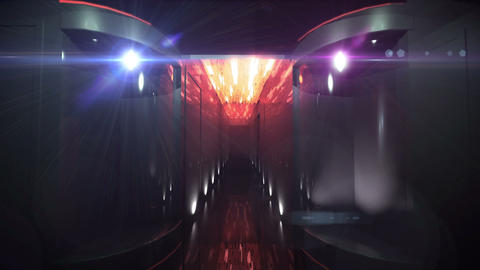 Space Corridor color led Animation