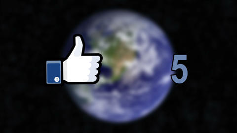 Global Facebook Likes Counts Stock Video Footage