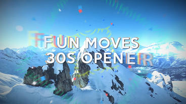 Fun Moves 30s Opener - After Effects Template After Effectsテンプレート