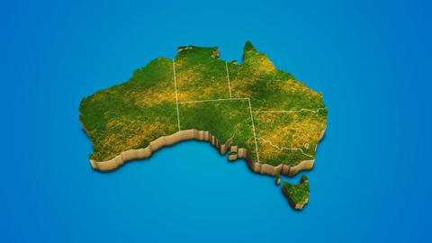 Australia country map satellite camera zoom in sky effect shot visualization After Effects Template